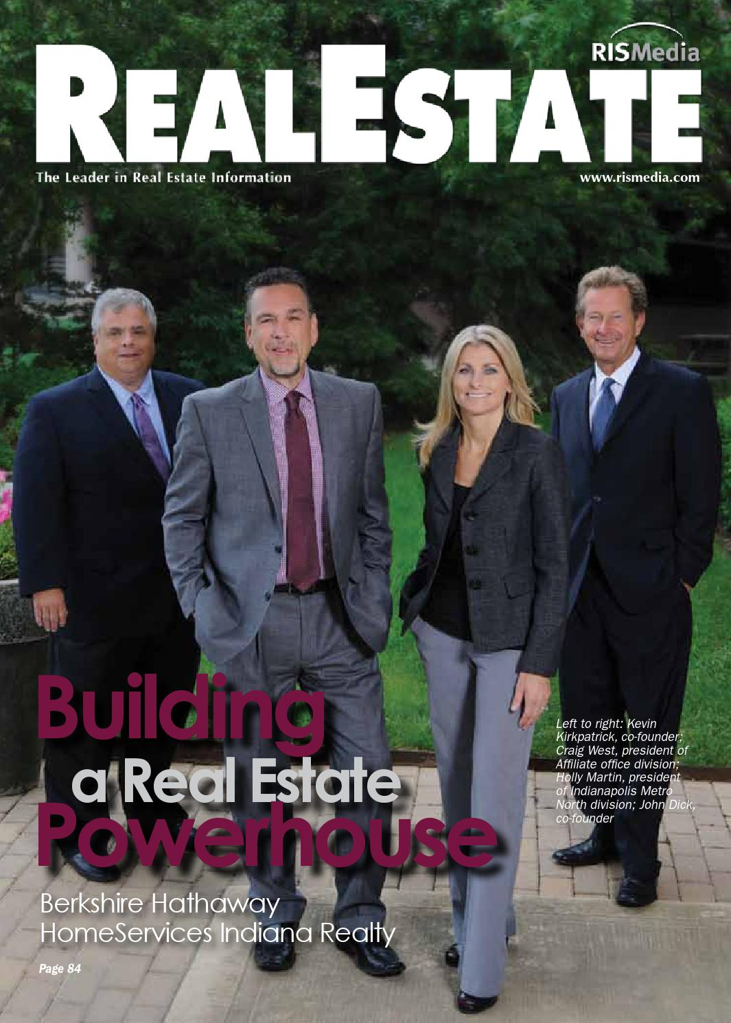 Real Estate Magazine - Berkshire Hathaway HomeServices Indiana Realty -  Oct. 2014