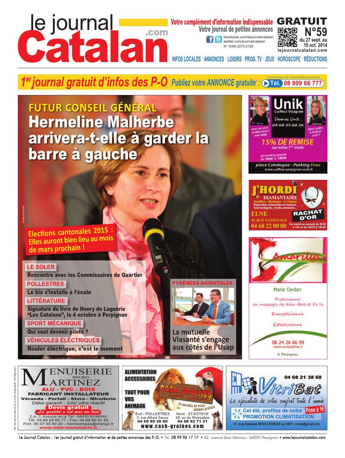 le journal catalan n 59 premier journal gratuit d 39 informations et de petites annonces des po by. Black Bedroom Furniture Sets. Home Design Ideas