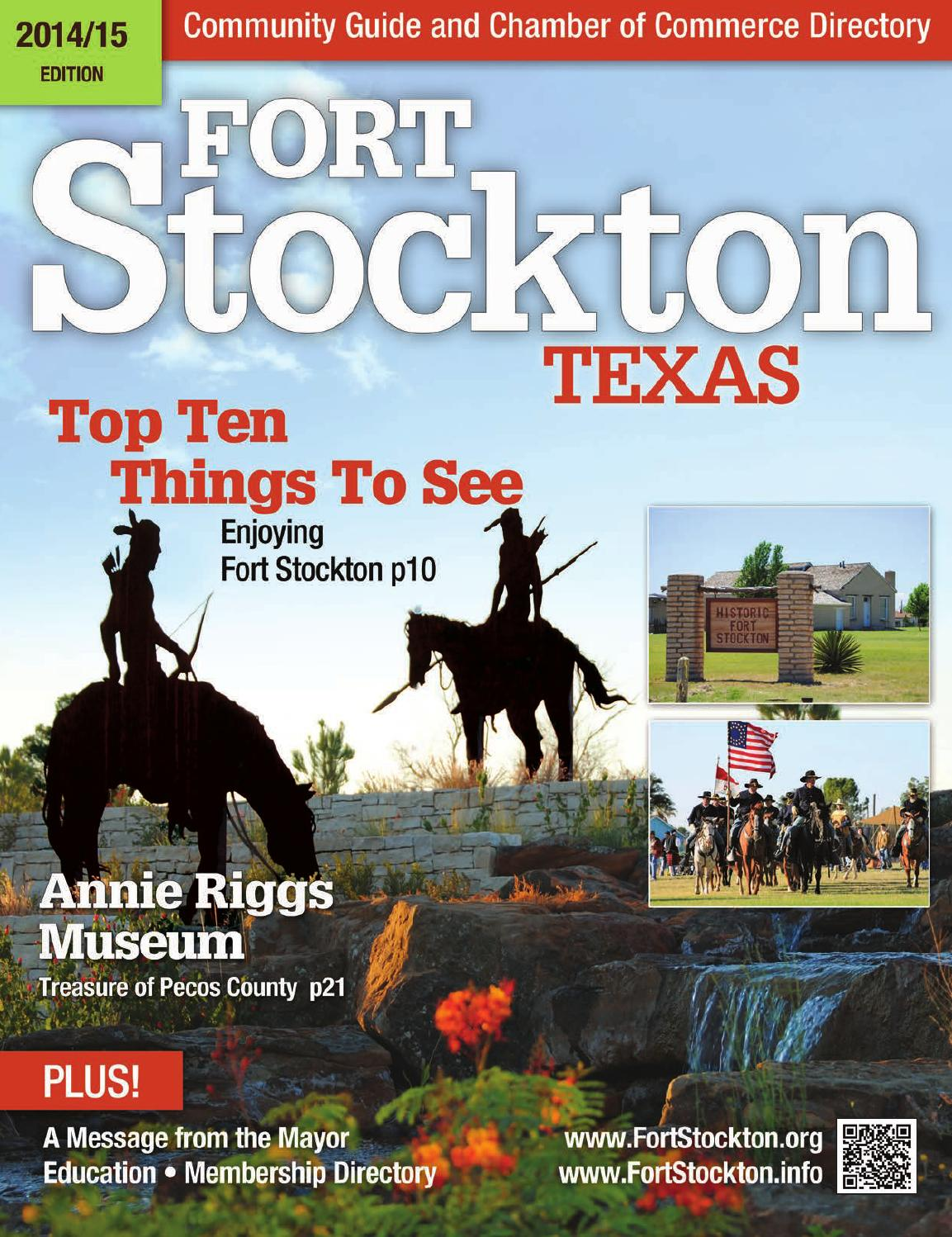 2014 2015 Fort Stockton Community Guide Chamber Of