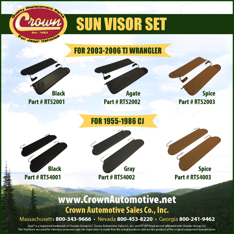 Crown Automotive RT54001 Sun Visor Set