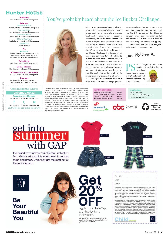 Child Magazine Dbn October 2014 By Hunter House Publishing Issuu