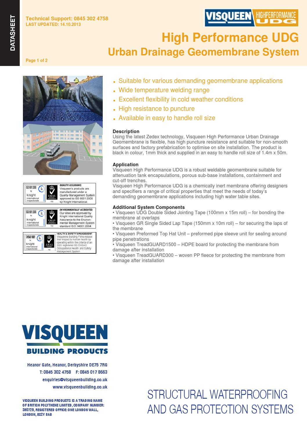 High Performance Udg Urban Drainage Geomembrane System By Visqueen Board Flexible Circuit Proofing Doublesided Can Make Building Products Issuu