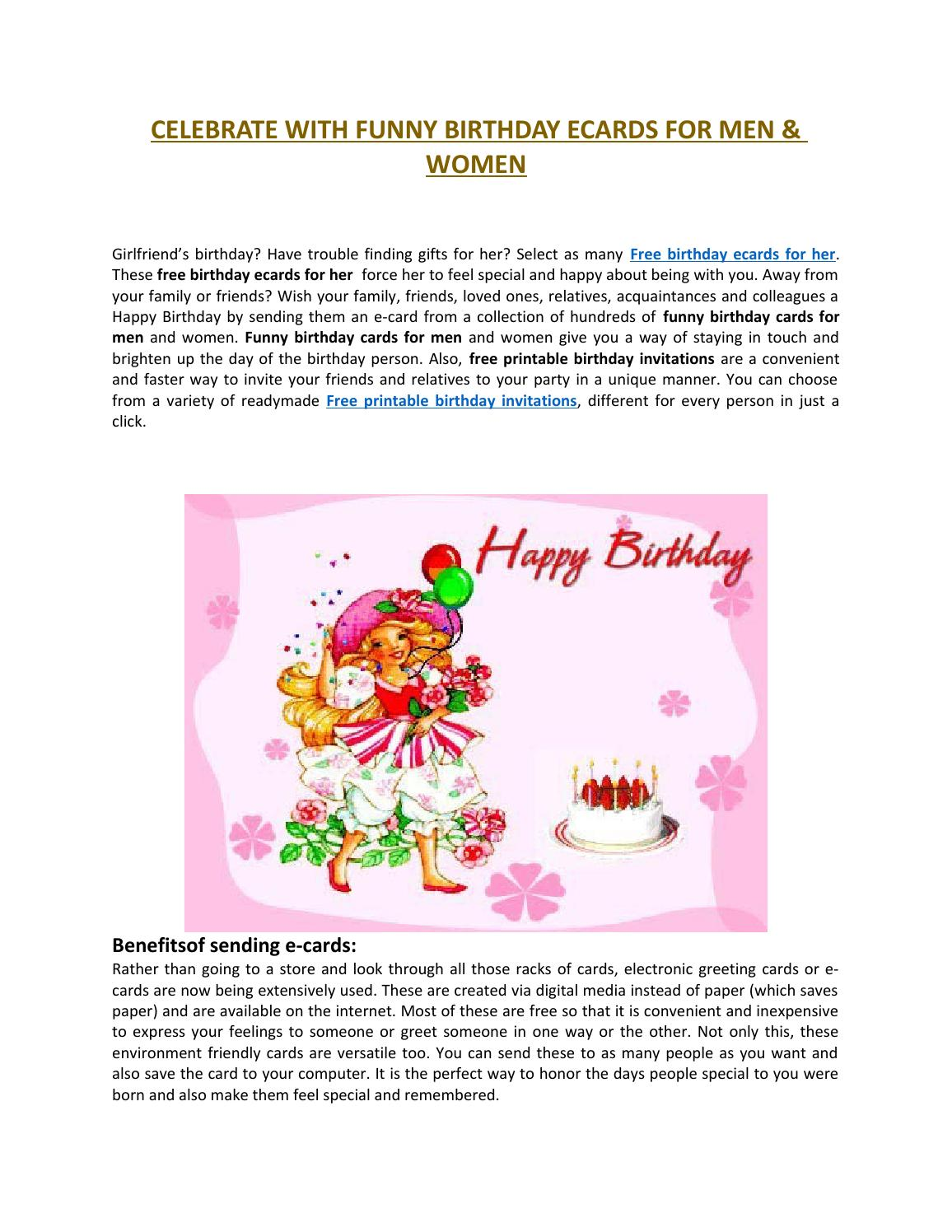 celebrate with funny birthday ecards for men  women