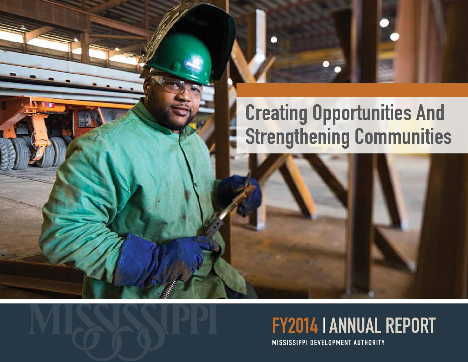 FY2014 Mississippi Development Authority Annual Report by ...