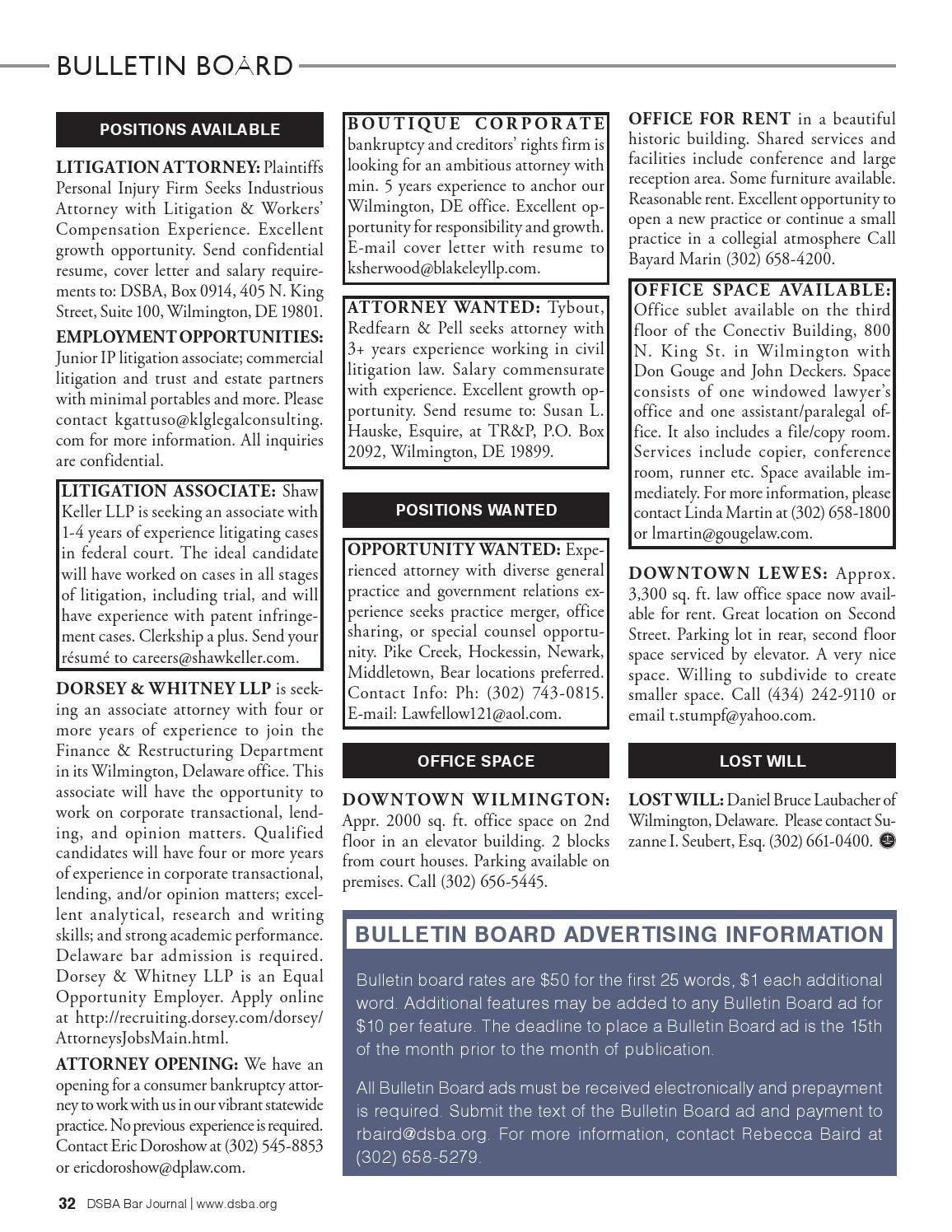 DSBA Bar Journal September 2014 by DSBAMedia - issuu