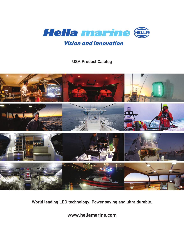 """12/"""" LED Folding All round White Navigation Light LED 12 Volt US COLREGS 2 N Mile"""