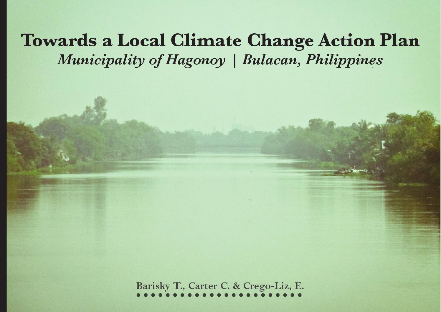 towards a local climate adaptation plan hagonoy