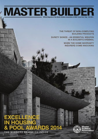 Official Magazine Of The Master Builders Ociation Nsw Issue Four Sep Oct 2017
