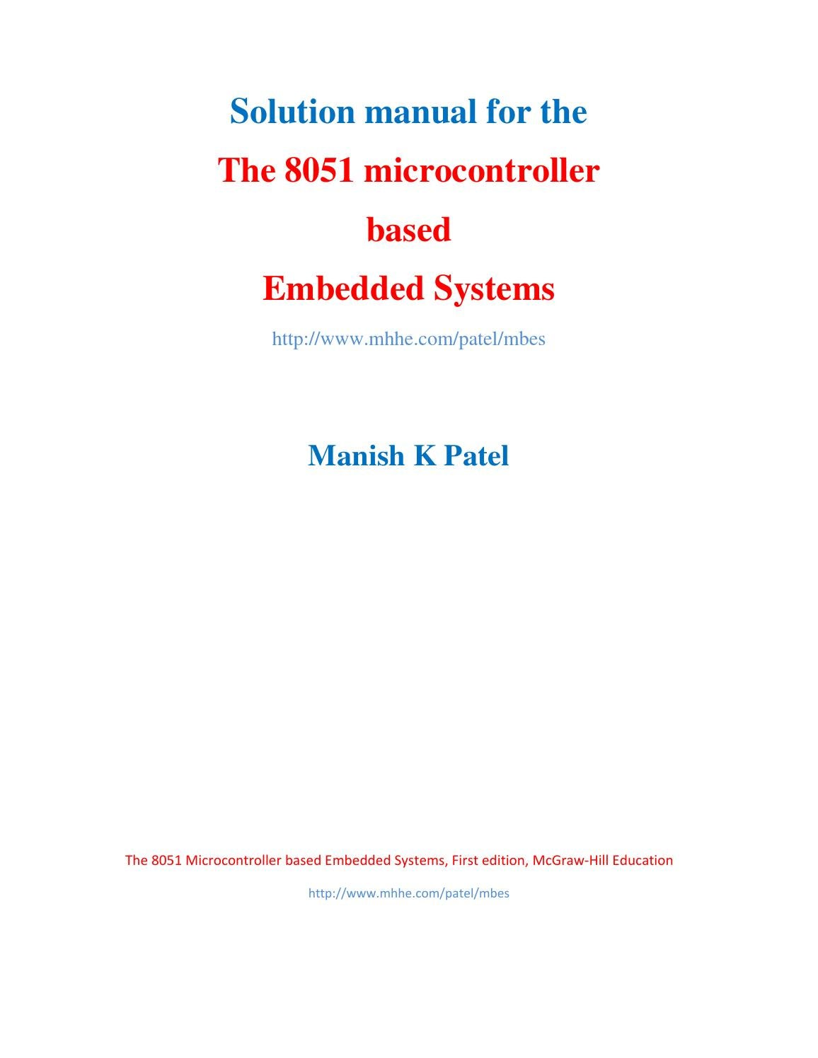 8051 Microcontroller Based Frequency Counter Auto Electrical Color Sensor Circuit1 Circuit With At89s52 Adc0808 Solution Manual The Embedded