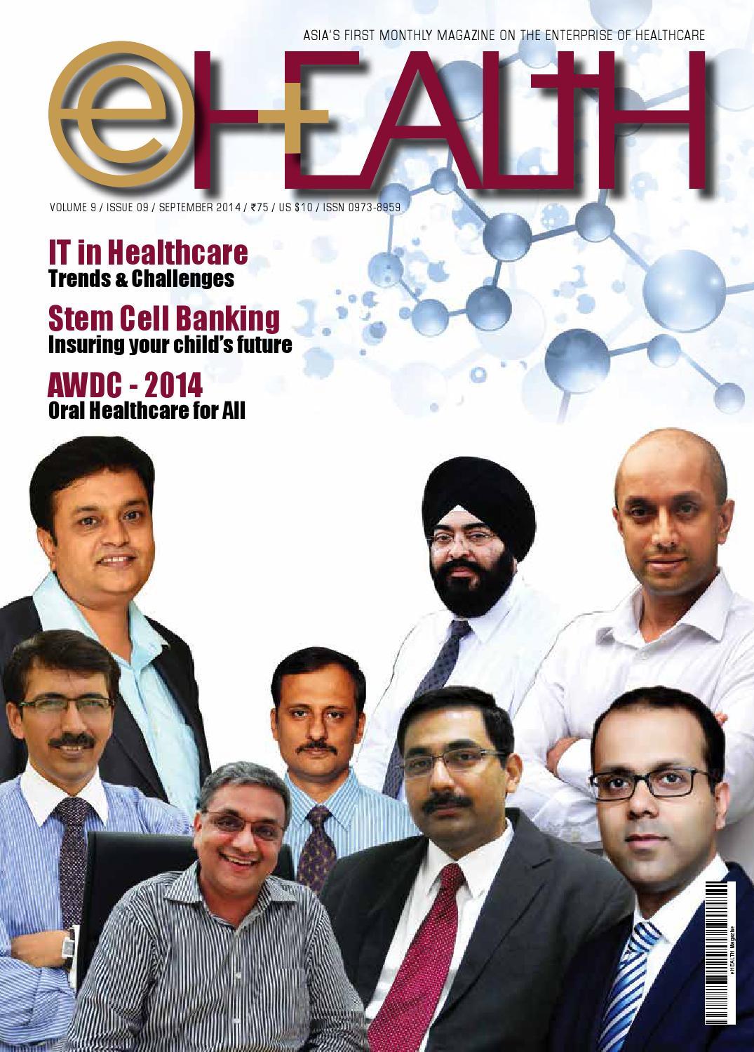 eHEALTH - September - 2014 by eHealth Magazine - Elets Technomedia