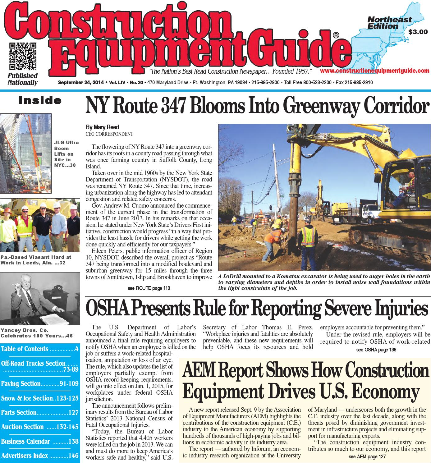 Northeast 20 2014 By Construction Equipment Guide Issuu Wiring Diagram Kubota B26 Tlb