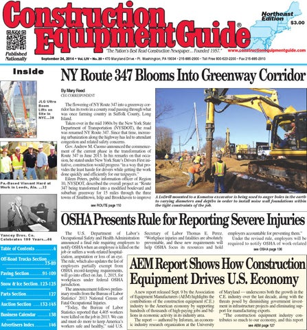 17607e47403f Northeast 20 2014 by Construction Equipment Guide - issuu