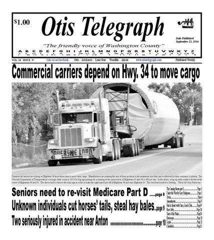 Otis telegraph september 23, 2014 edition by OTsportschek - issuu
