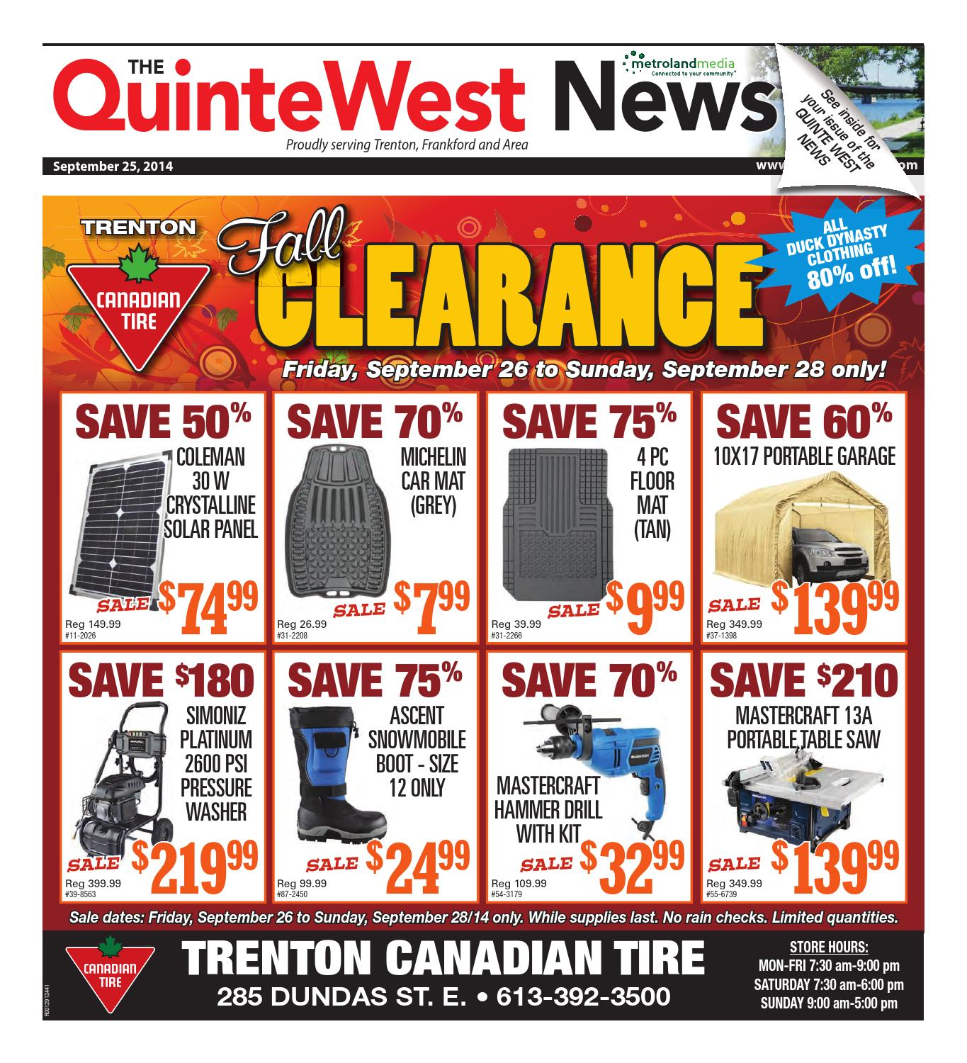 Quinte092514 by Metroland East - Quinte West News - issuu