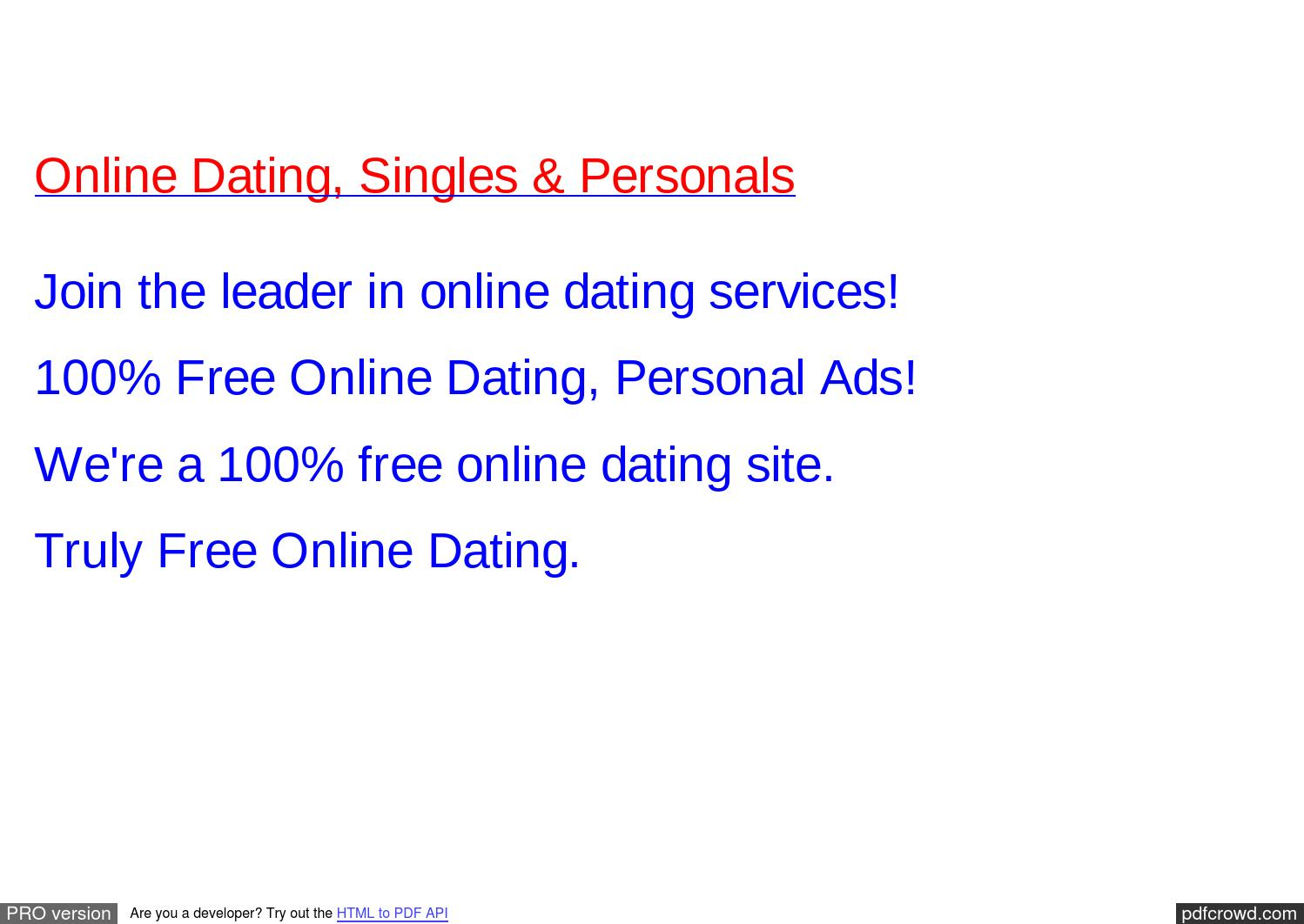 comparison of free online dating sites