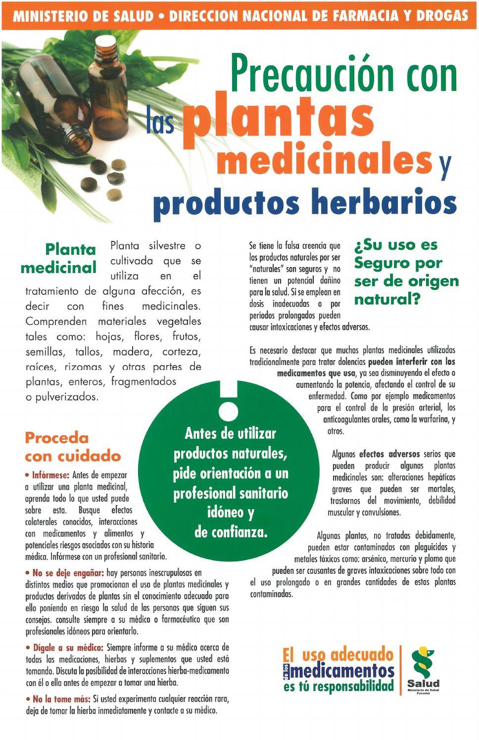Afiche sobre plantas medicinales y productos herbarios by ...