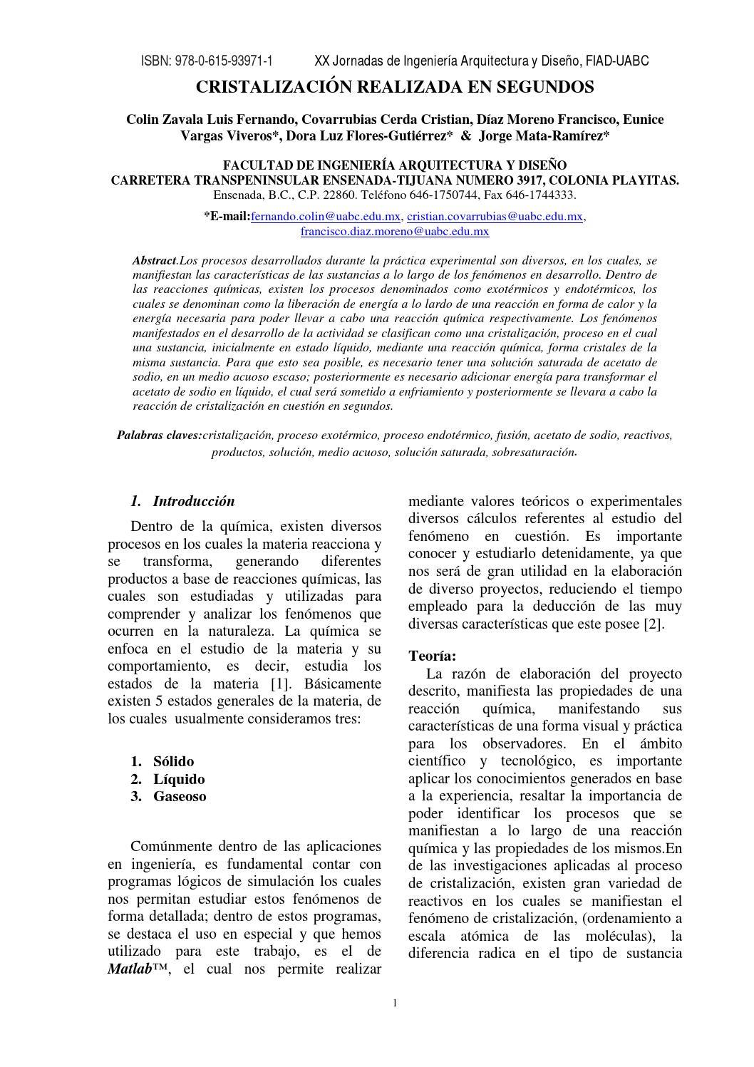 1 Cristalizaci N Realizada En Segundos By Manuel Jimenez
