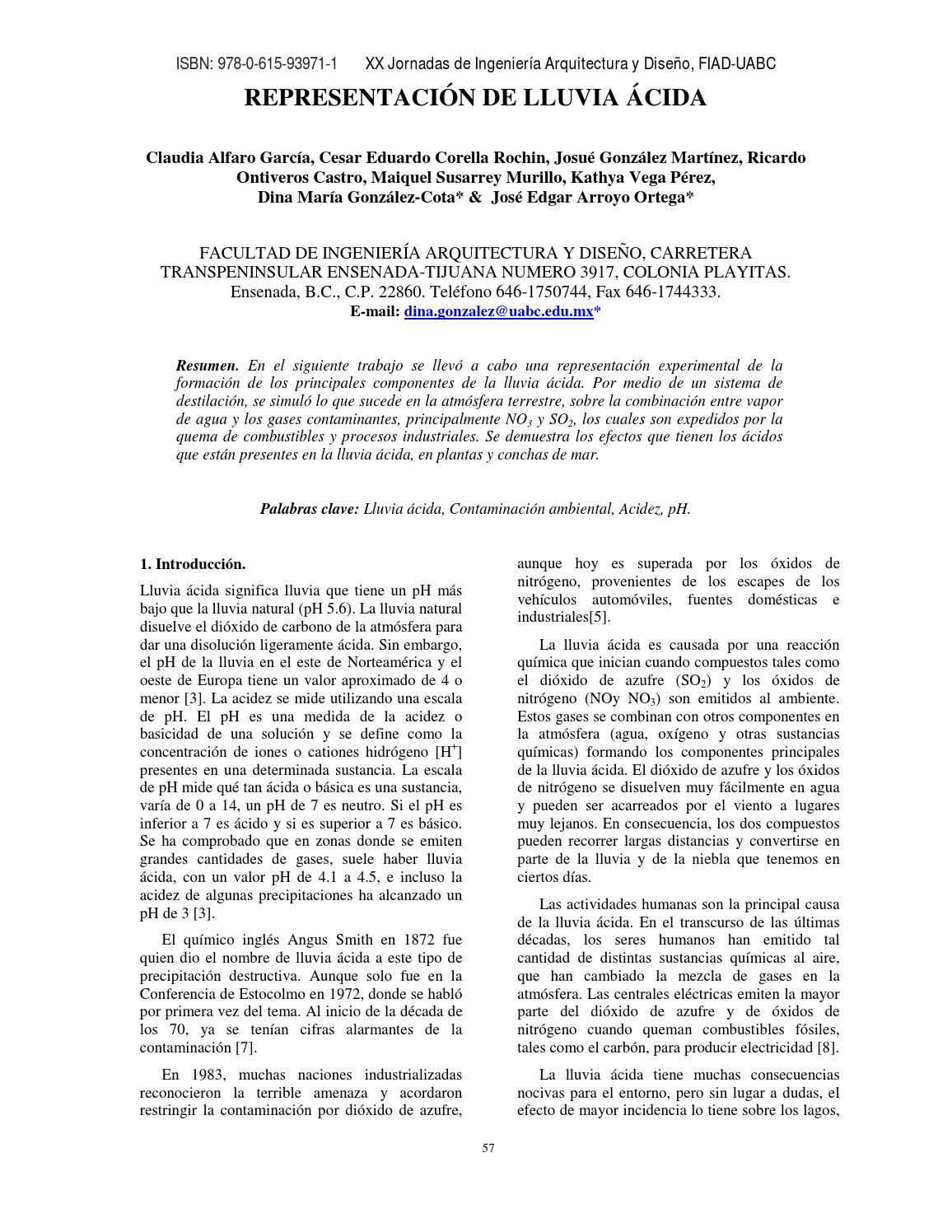 15 representaci n de lluvia cida by manuel jimenez issuu Arquitectura y diseno uabc