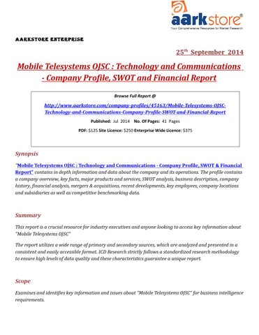 mobile telesystems ojsc annual report