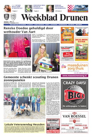 Weekblad Drunen 25 09 2014 By Uitgeverij Em De Jong Issuu