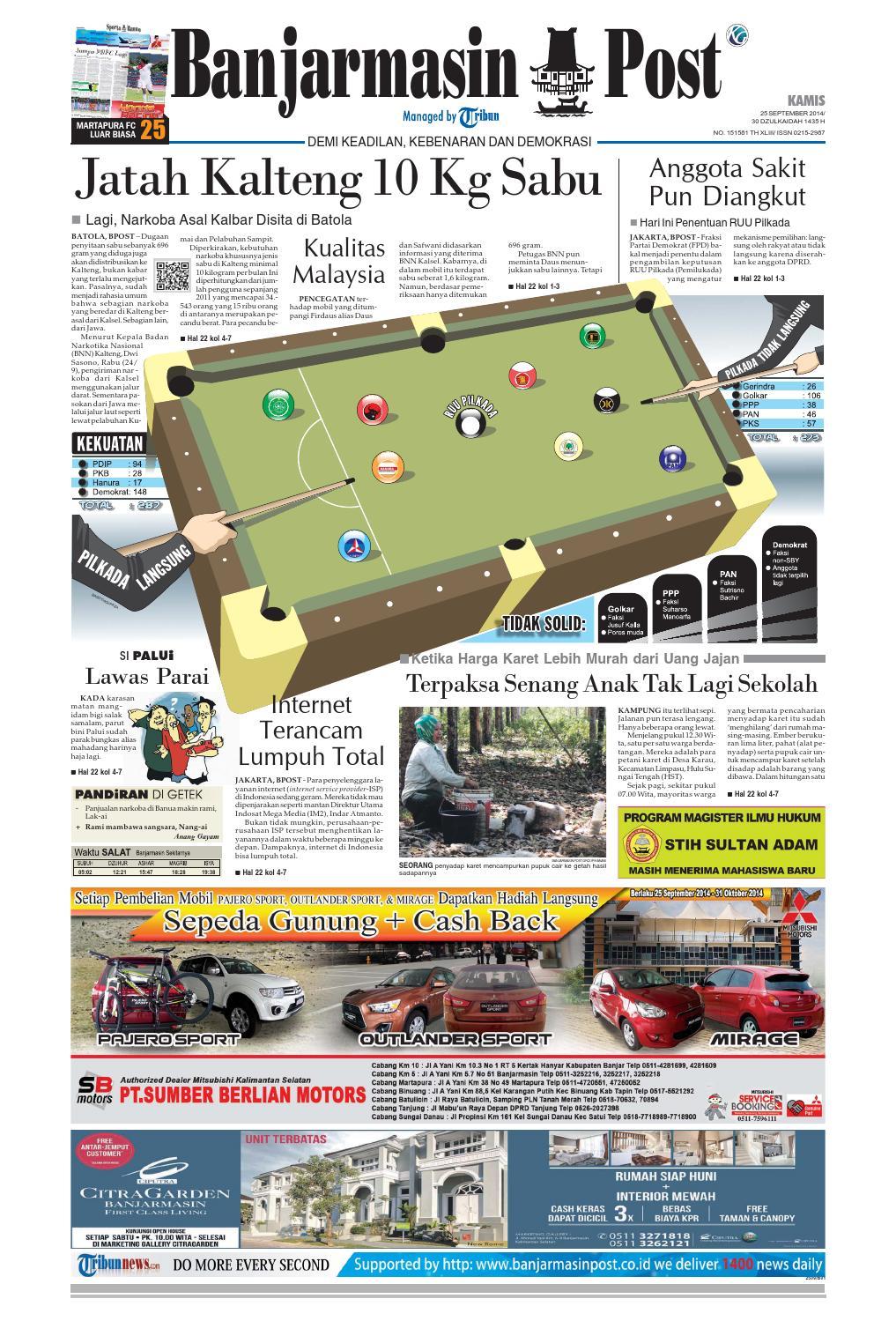 Banjarmasin Post Kamis 29 Mei 2014 By Issuu Tcash Vaganza 33 Paket 10 Pcs Susu Bear Brand 25 September