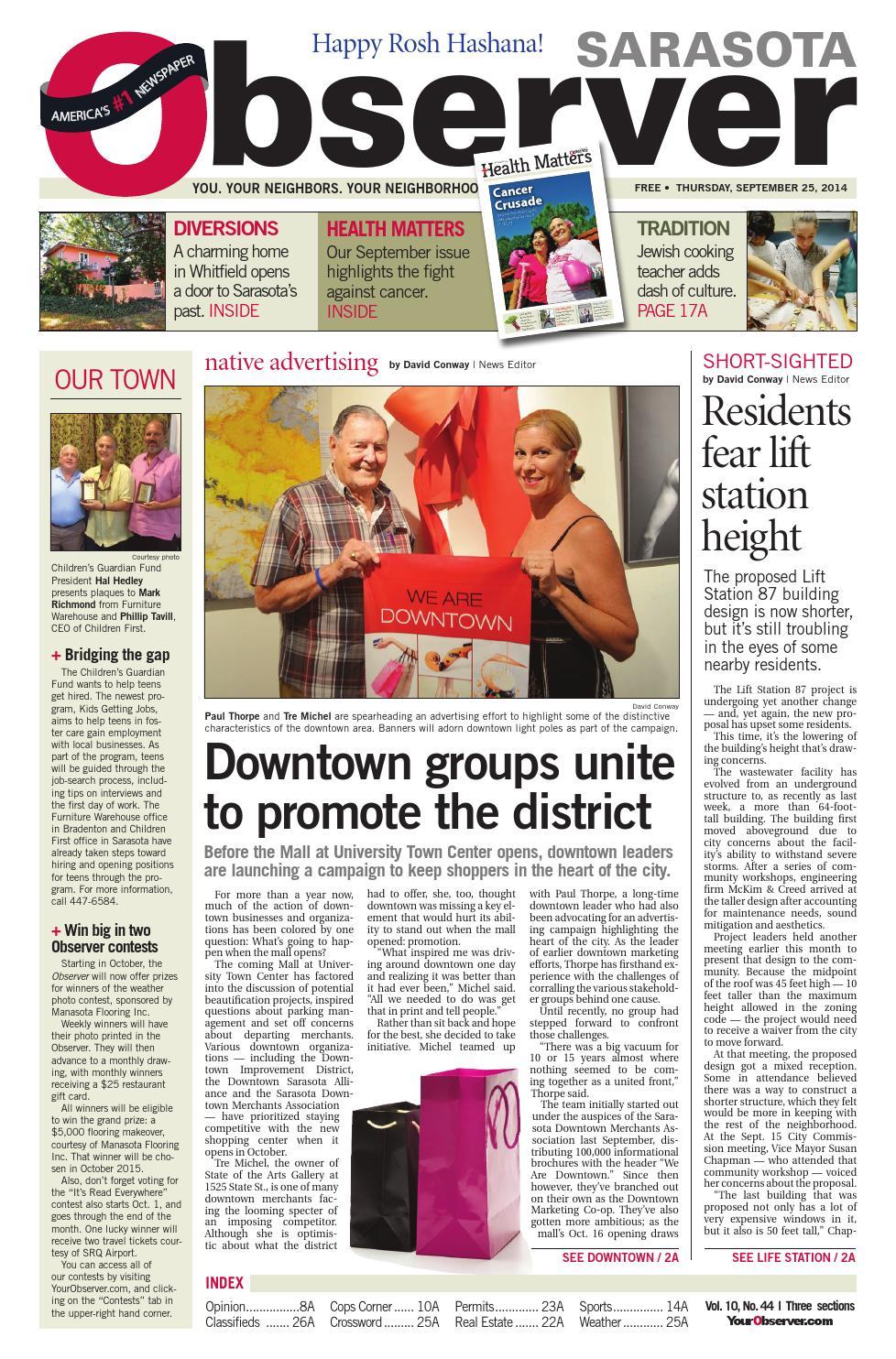 6618db51227ca Sarasota Observer 9.25.14 by The Observer Group Inc. - issuu