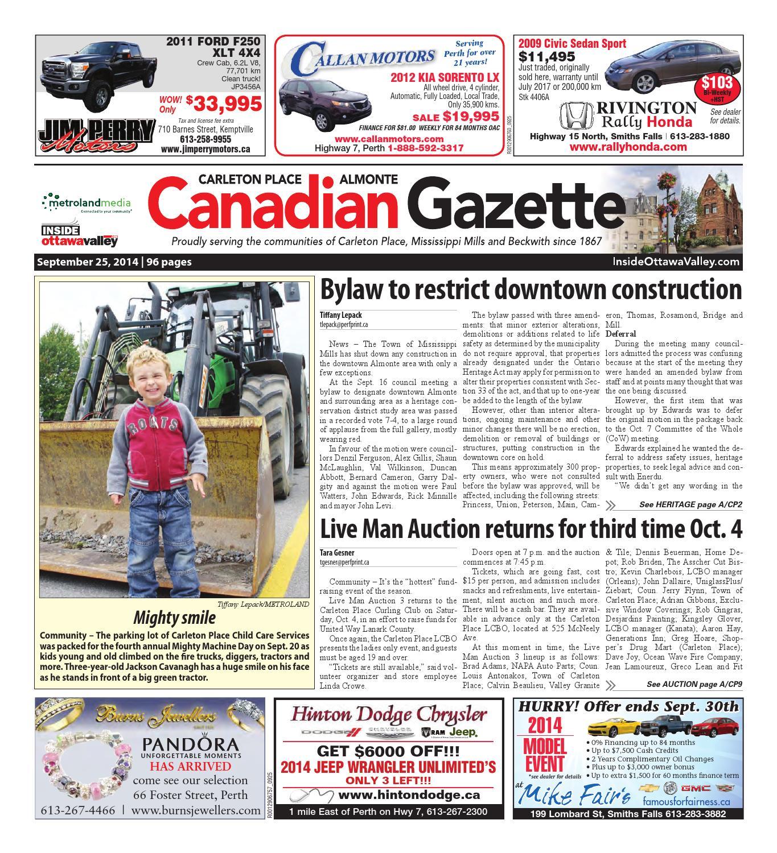Almontecarletonplace092514 by Metroland East - Almonte Carleton Place  Canadian Gazette - issuu 79c90badc