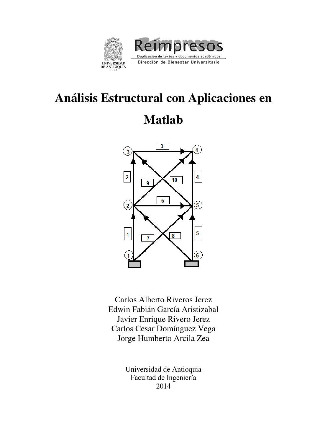 Análisis Estructural Aplicaciones Matlab By Bienestar U De A