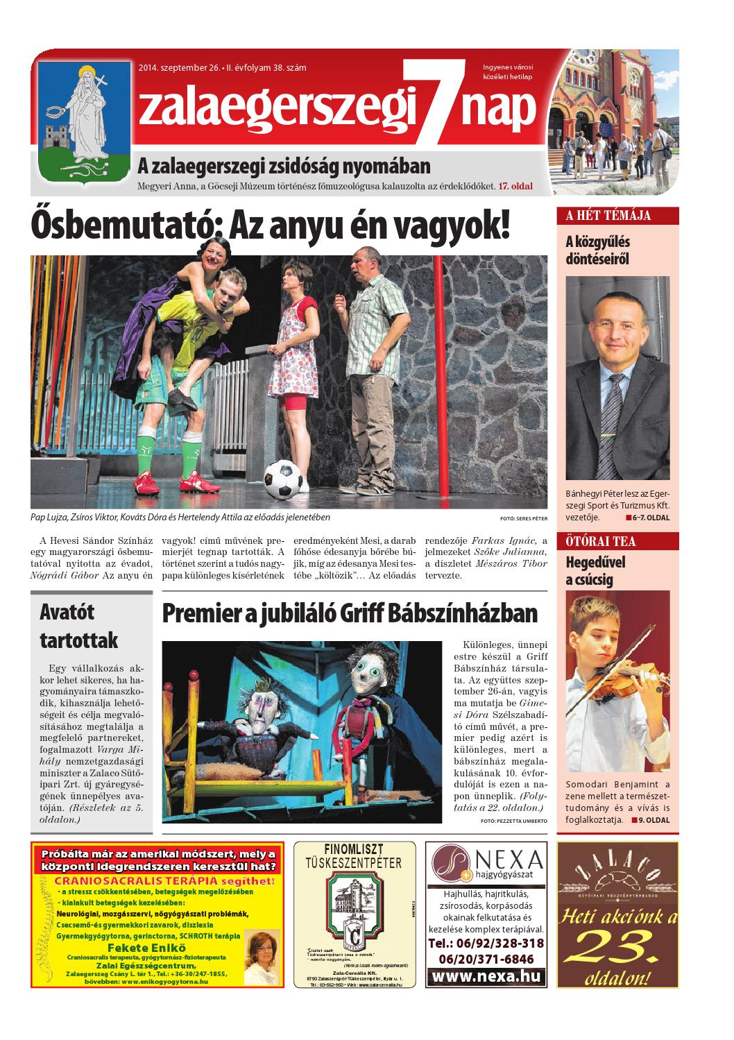 Zalaegerszegi 7 Nap - 2014. 09. 26. by Maraton Lapcsoport Kft. - issuu 10c79b1303