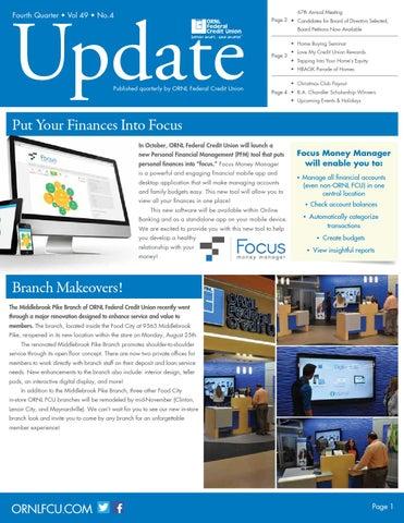 Ornl Fcu Update Vol 49 No 4 By Ornl Federal Credit Union Issuu