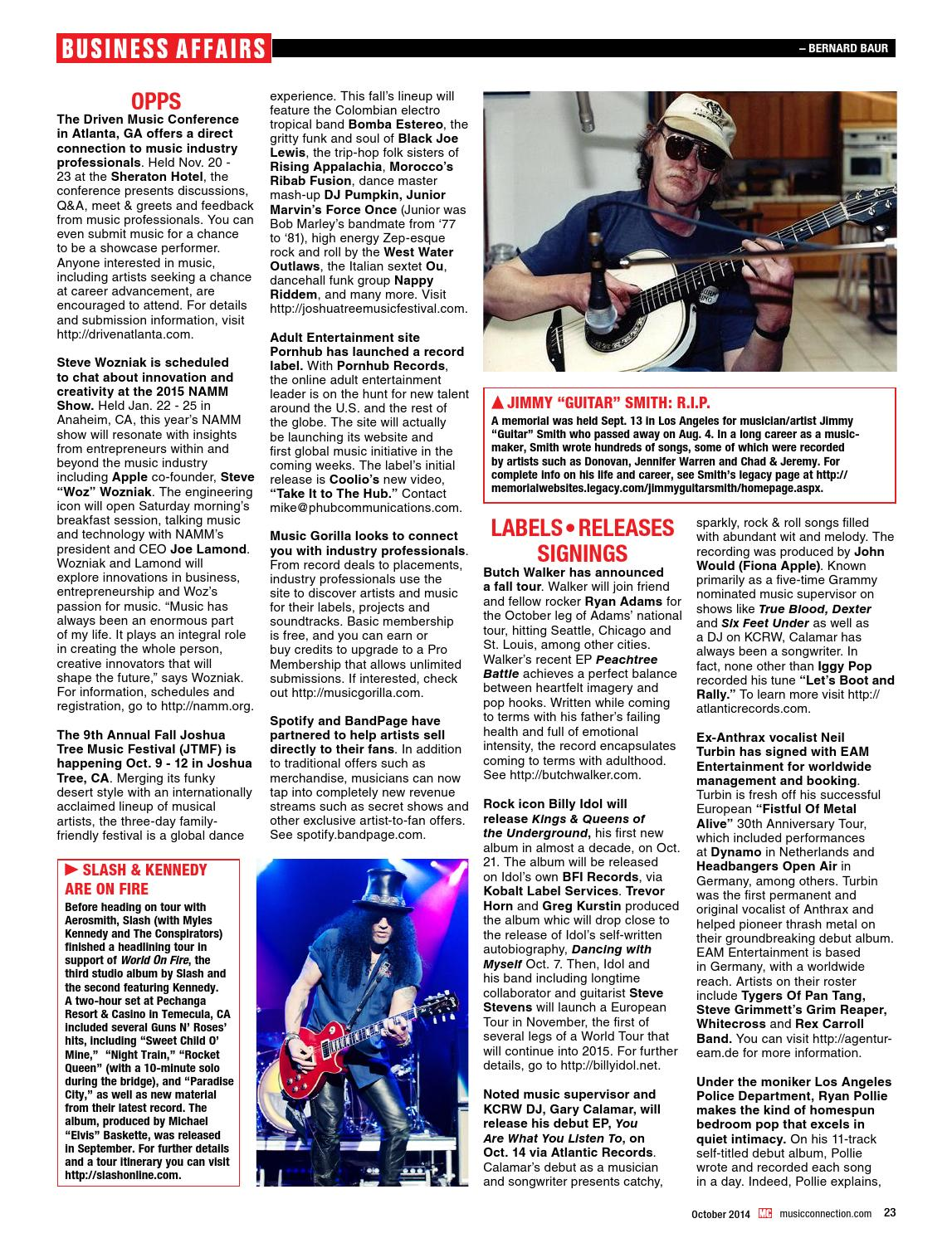 Music Connection October 2014 Issue
