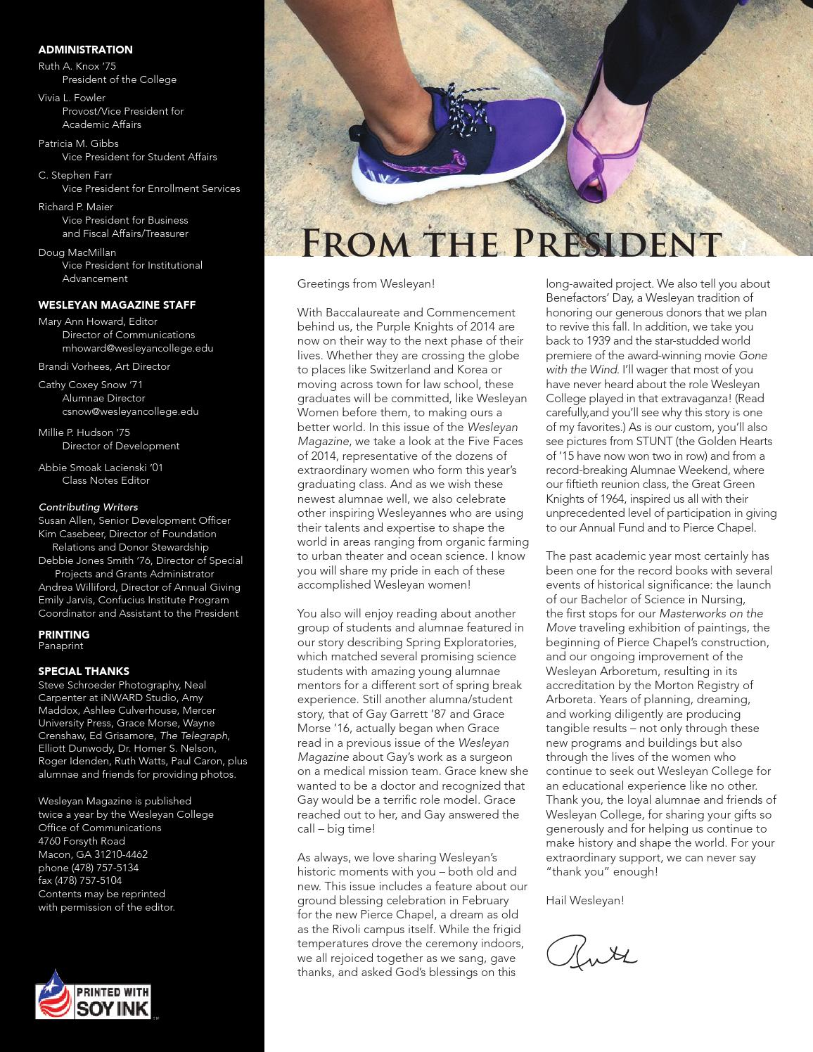ae6a9af558e Wesleyan College 2014 Summer Issue by Wesleyan College - issuu