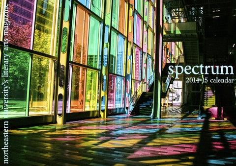 Spectrum Northeastern University S Literary Arts Magazine 2014