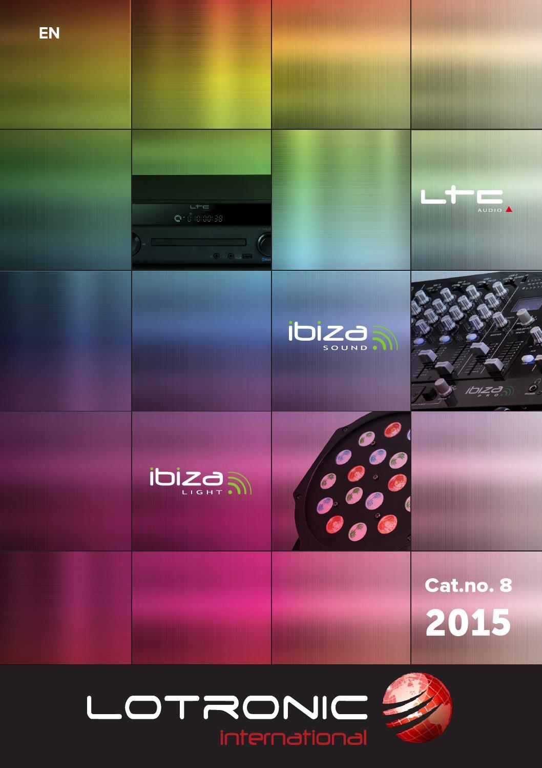 Ibiza DJLIGHT90LED DJ LED Noir Lotronic