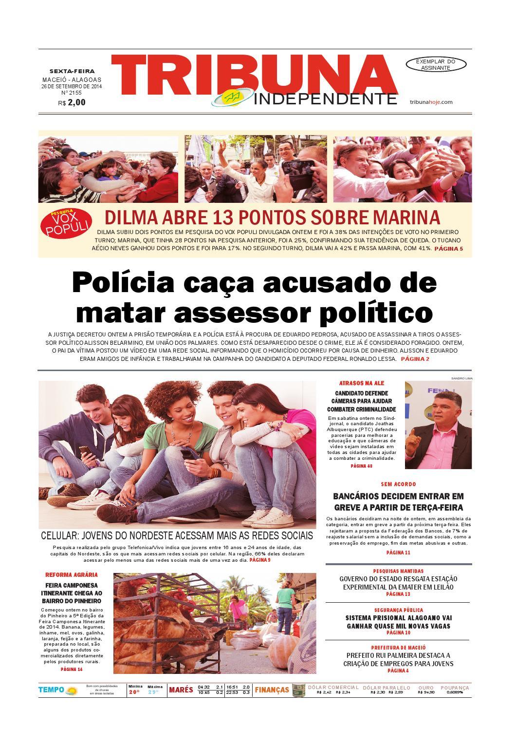 55da5c6422 Edição número 2156 - 26 de setembro de 2014 by Tribuna Hoje - issuu