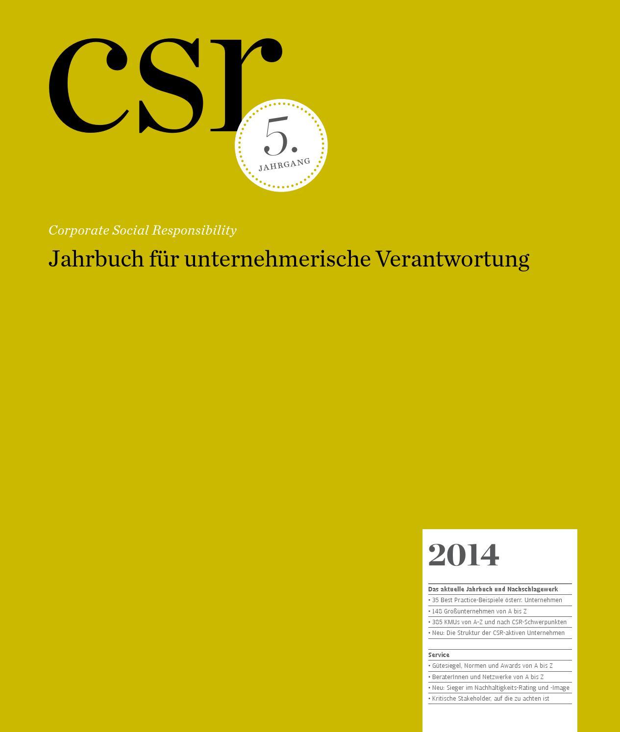 csr jahrbuch by medianet issuu - Csr Beispiele