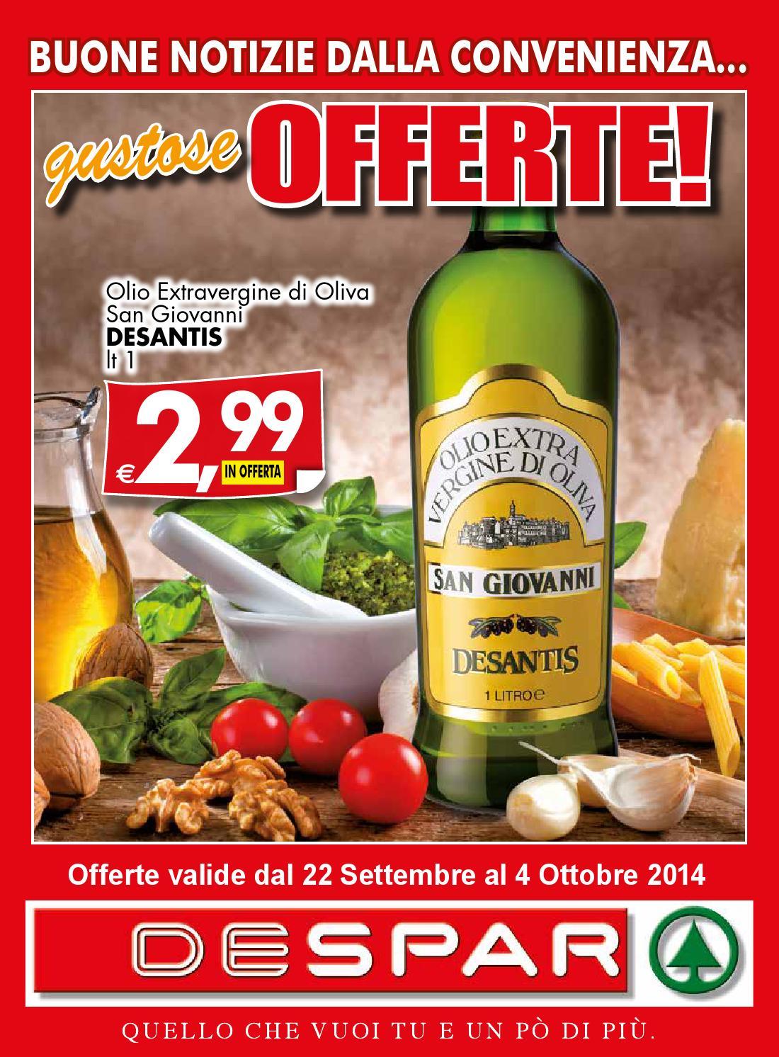 Volantino despar affiliati 22 settembre 4 ottobre 2014 for Volantino despar messina