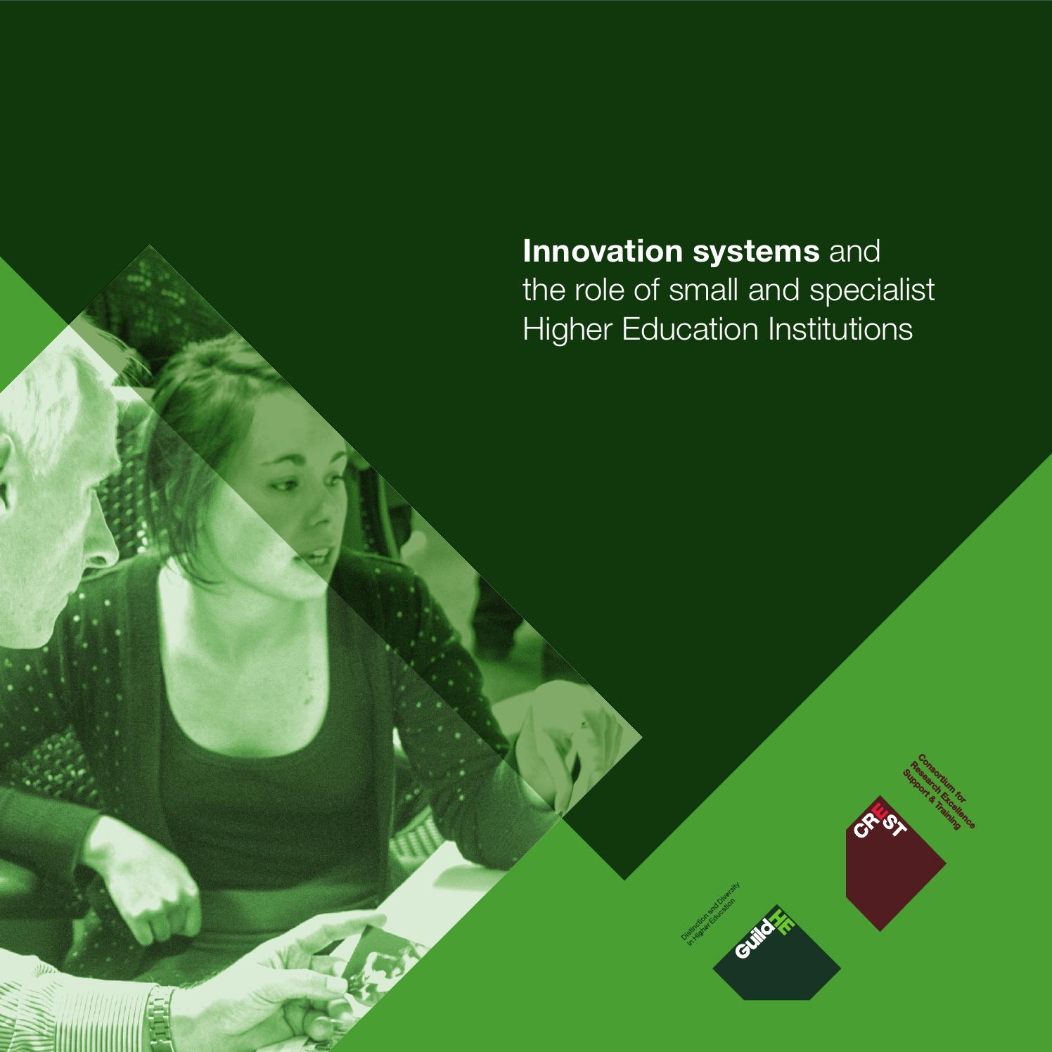 Innovation Systems And The Role Of Small Specialist Heis By Open Circuit Arm Detector Ocad Guildhe Crest Issuu