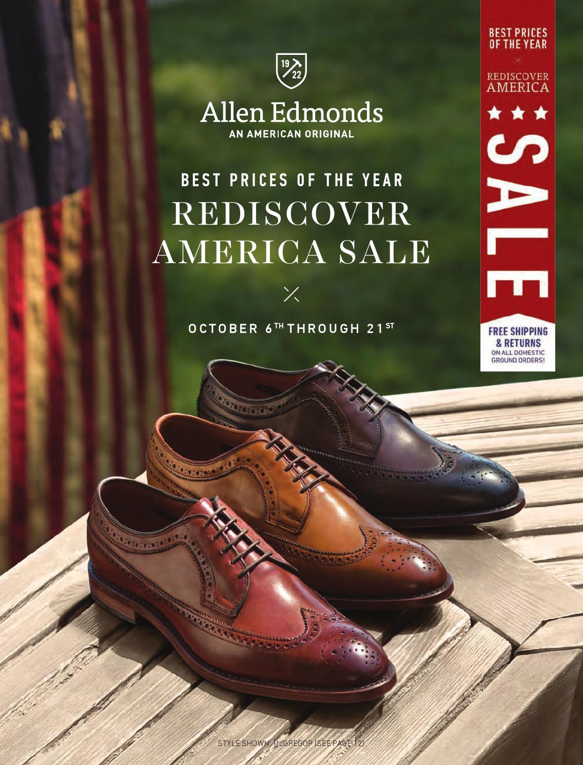 Allen Edmonds 2014 Rediscover America Sale Catalog By Allen Edmonds