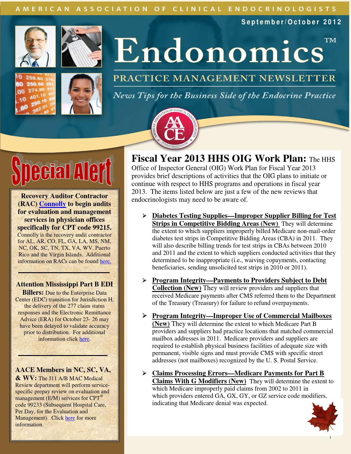 Endonomics an AACE Practice Management Newsletter SeptemberOctober