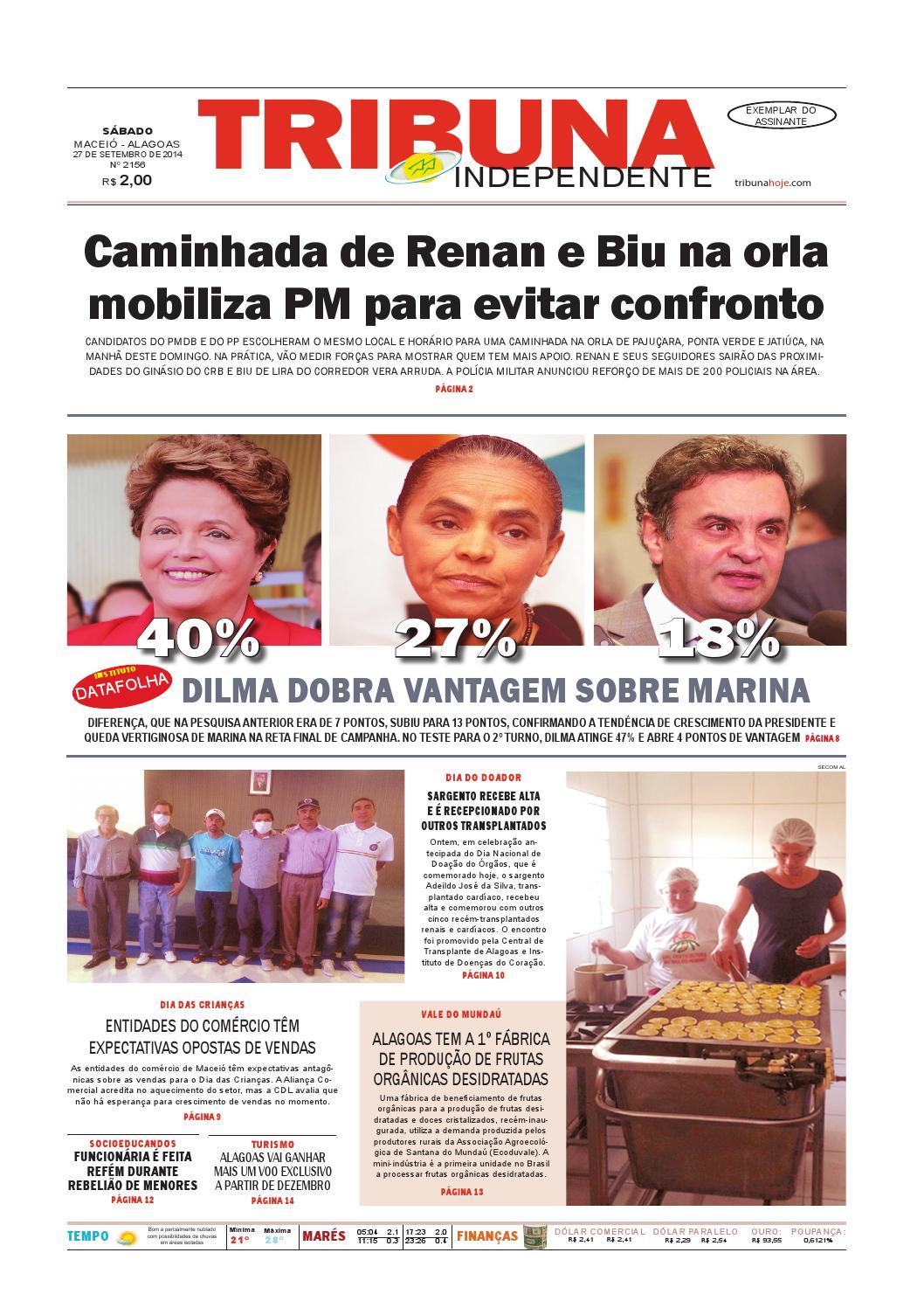 590a716340f Edição número 2157 - 27 de setembro de 2014 by Tribuna Hoje - issuu