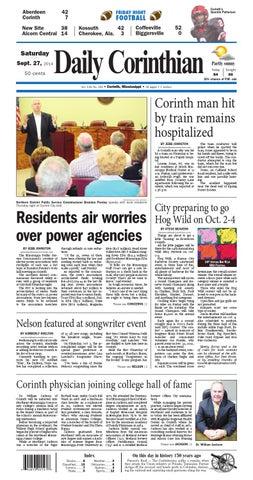 092714 Daily Corinthian E Edition By Daily Corinthian Issuu