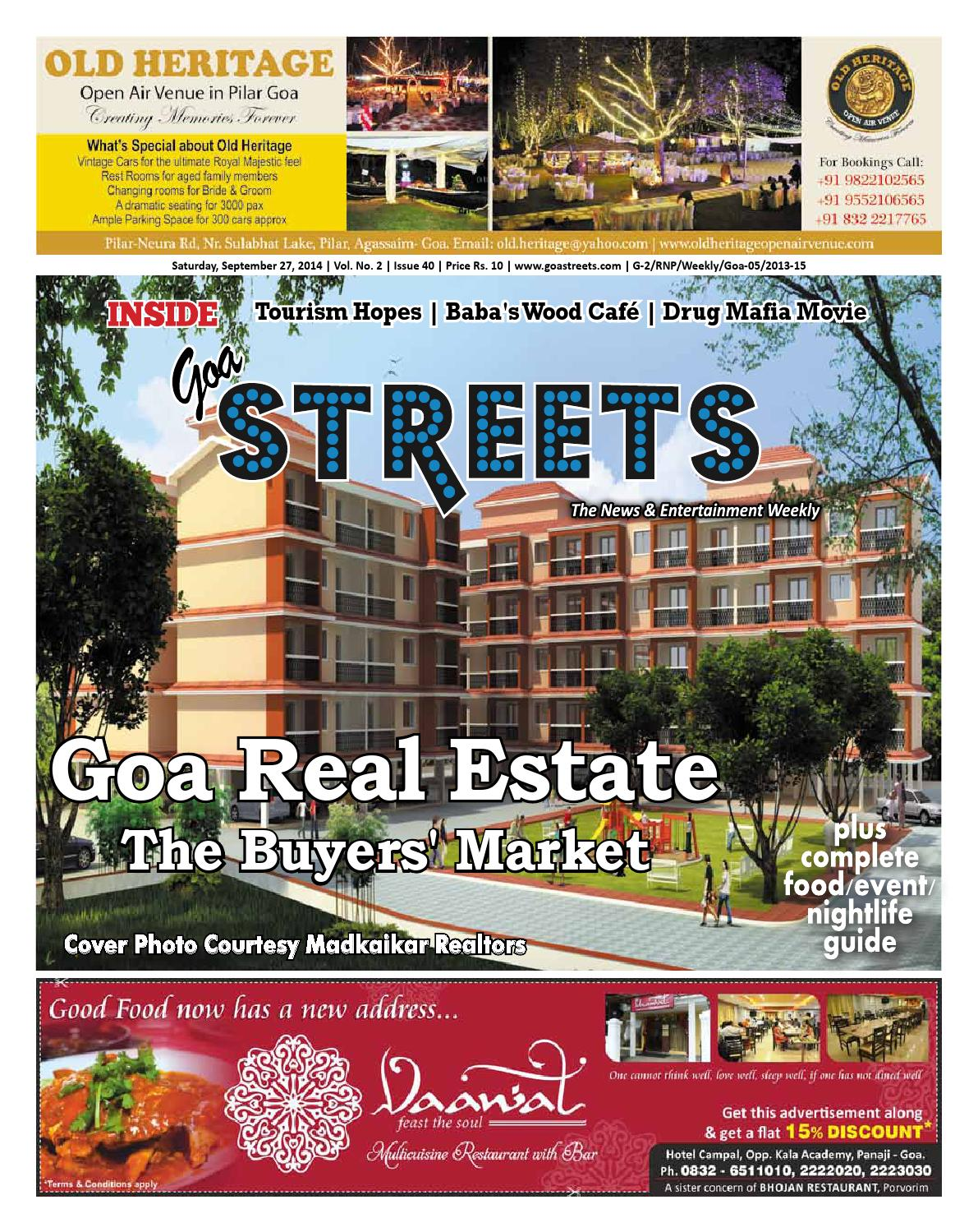Hotel Campal Issue No 40 By Goa Streets Issuu