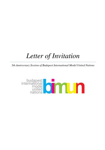 Invitation letter for bimun 2015 by bimun issuu letter of invitation 5th anniversary session of budapest international model united nations stopboris Choice Image