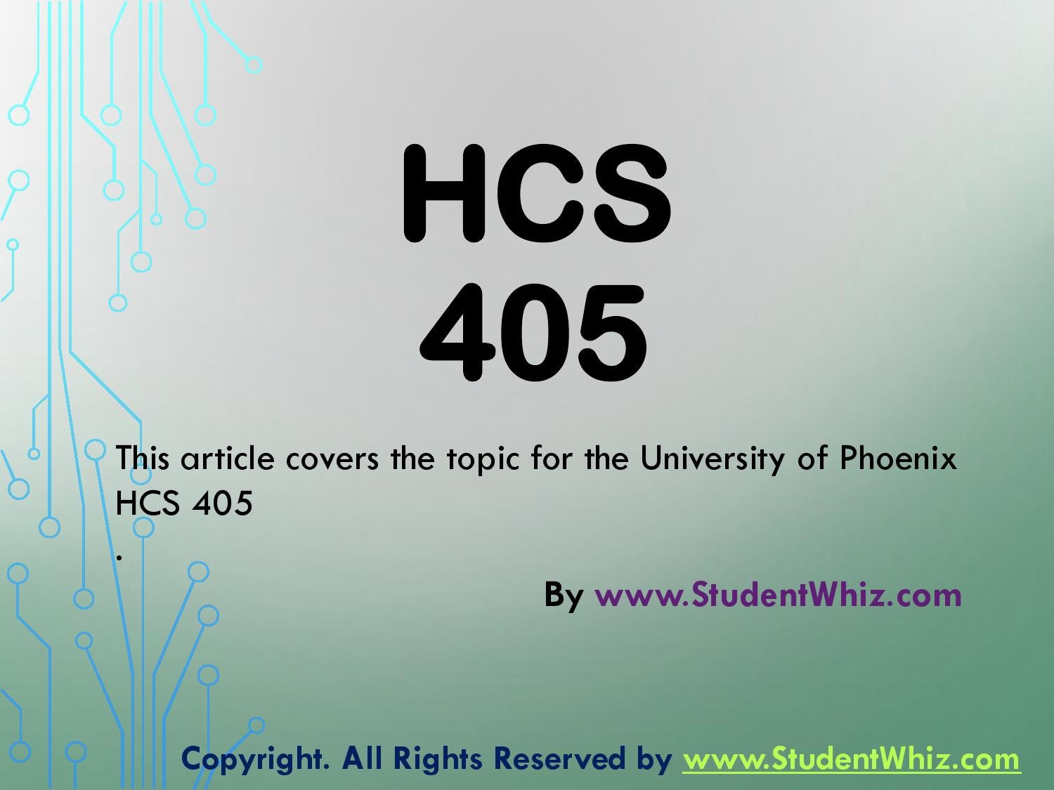 hcs 405 powerpoint sensitivity analysis Hcs 405 week 2 individual assignment week two health care financial terms worksheet resources: university of phoenix material: week two health care financial terms worksheet complete the university of phoenix material: week two health care financial terms worksheet located on the student website.