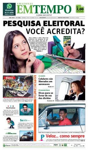 b4c53fb75 EM TEMPO - 28 de setembro de 2014 by Amazonas Em Tempo - issuu
