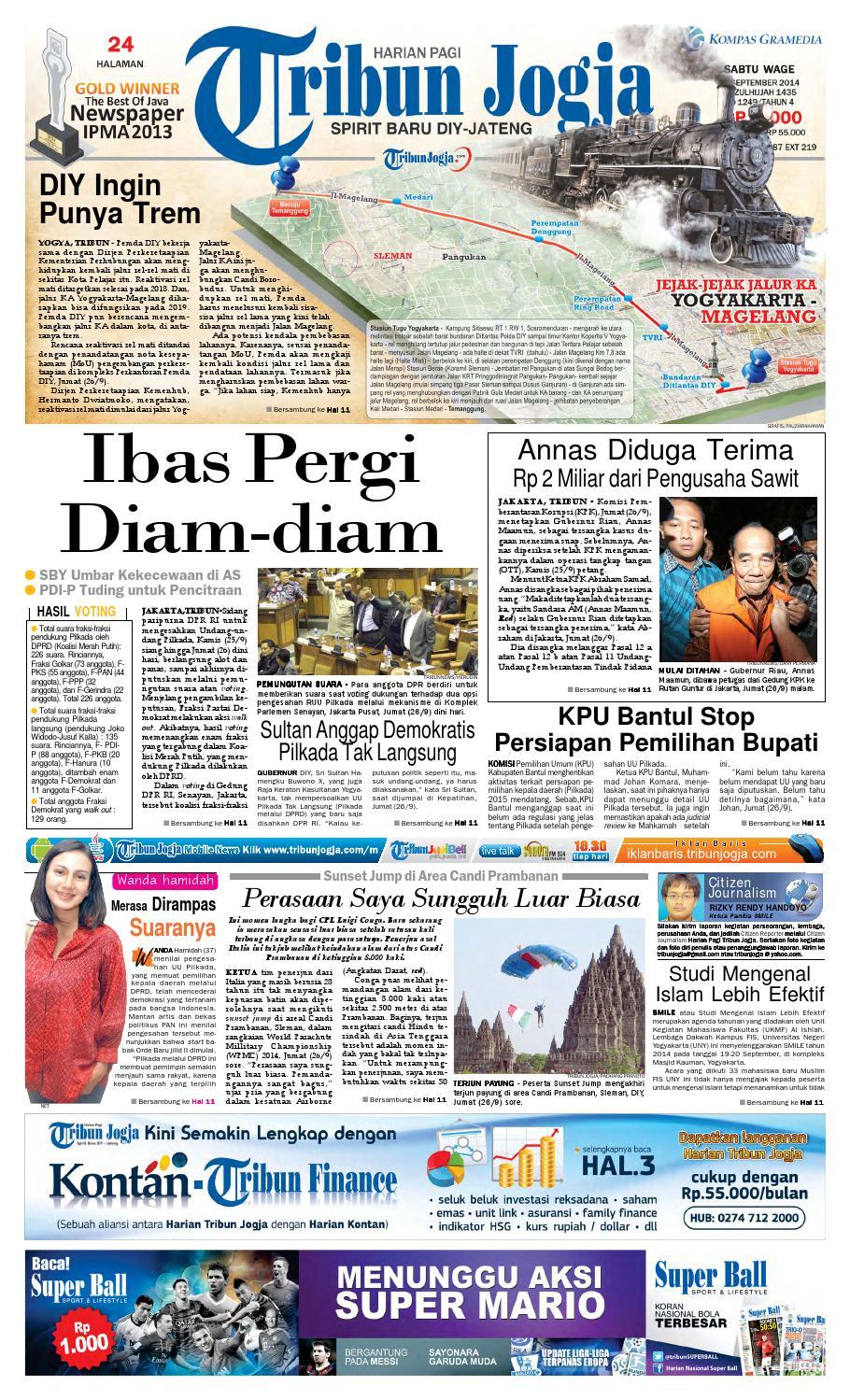 Tribunjogja 27 09 2014 By Tribun Jogja Issuu Rkb Bni Tegal Kranjang Buah Nur Fashion And Art