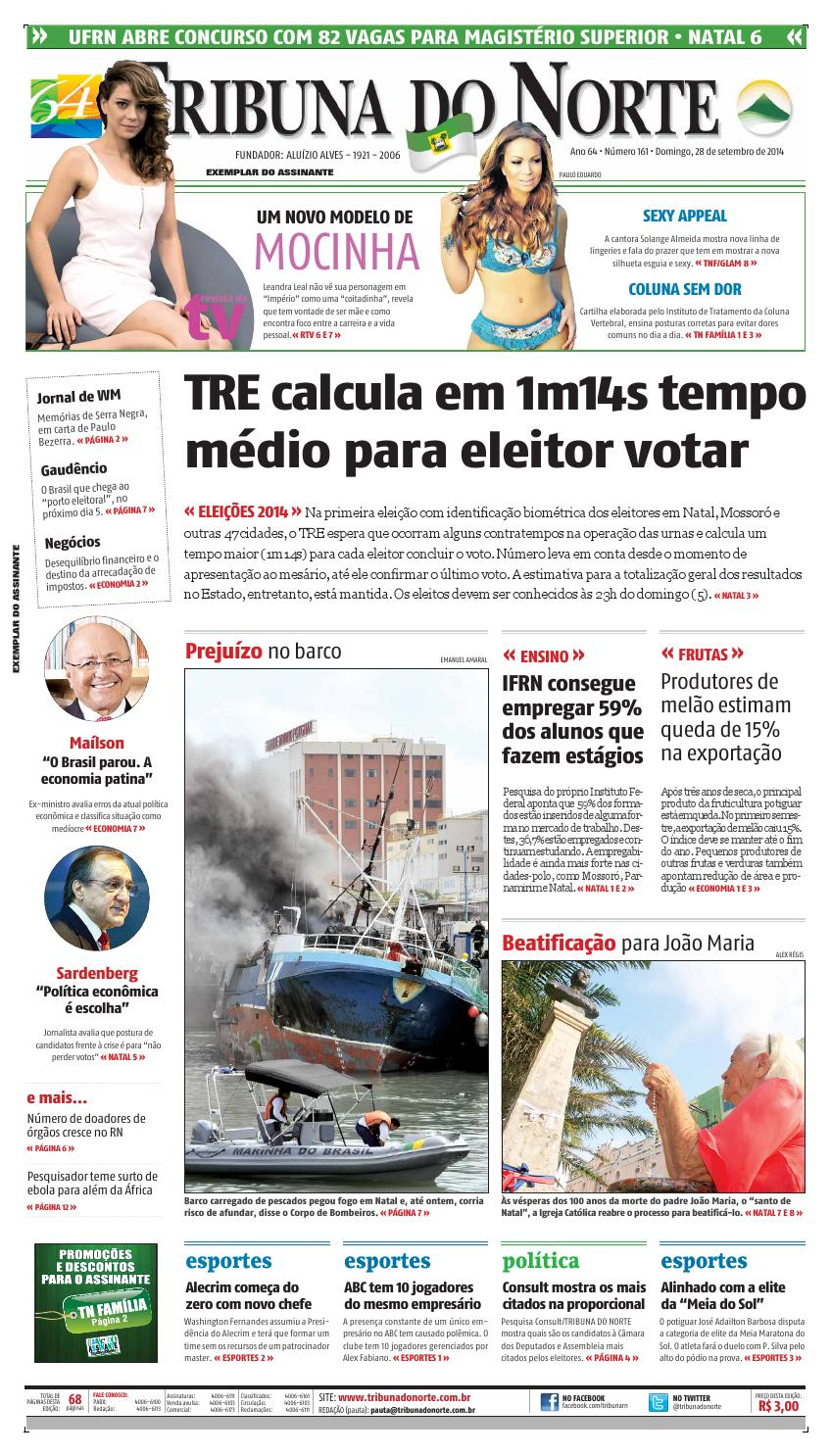 c85dcc3b278a1 Tribuna do Norte - 28 09 2014 by Empresa Jornalística Tribuna do Norte Ltda  - issuu