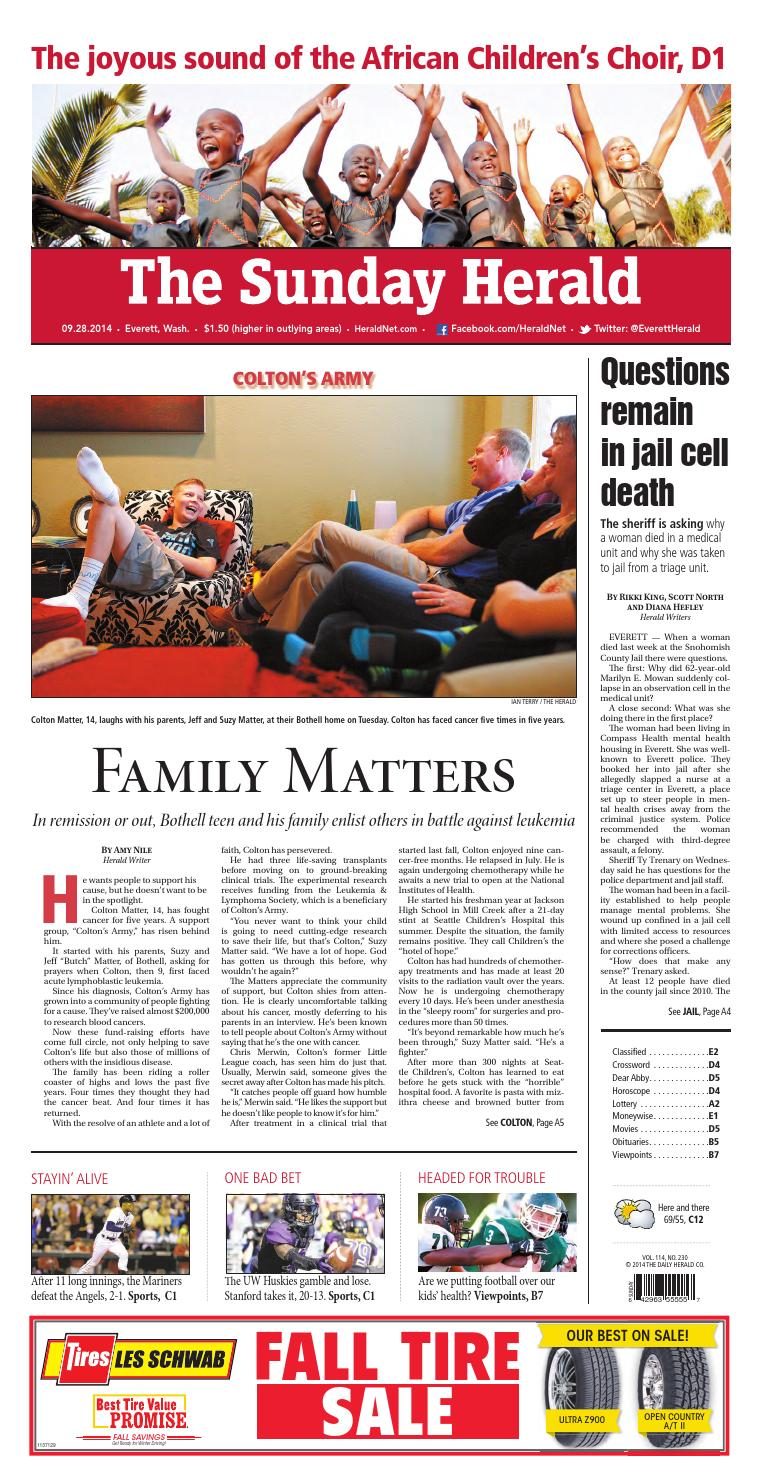 Everett Daily Herald September 28 2014 By Sound Publishing