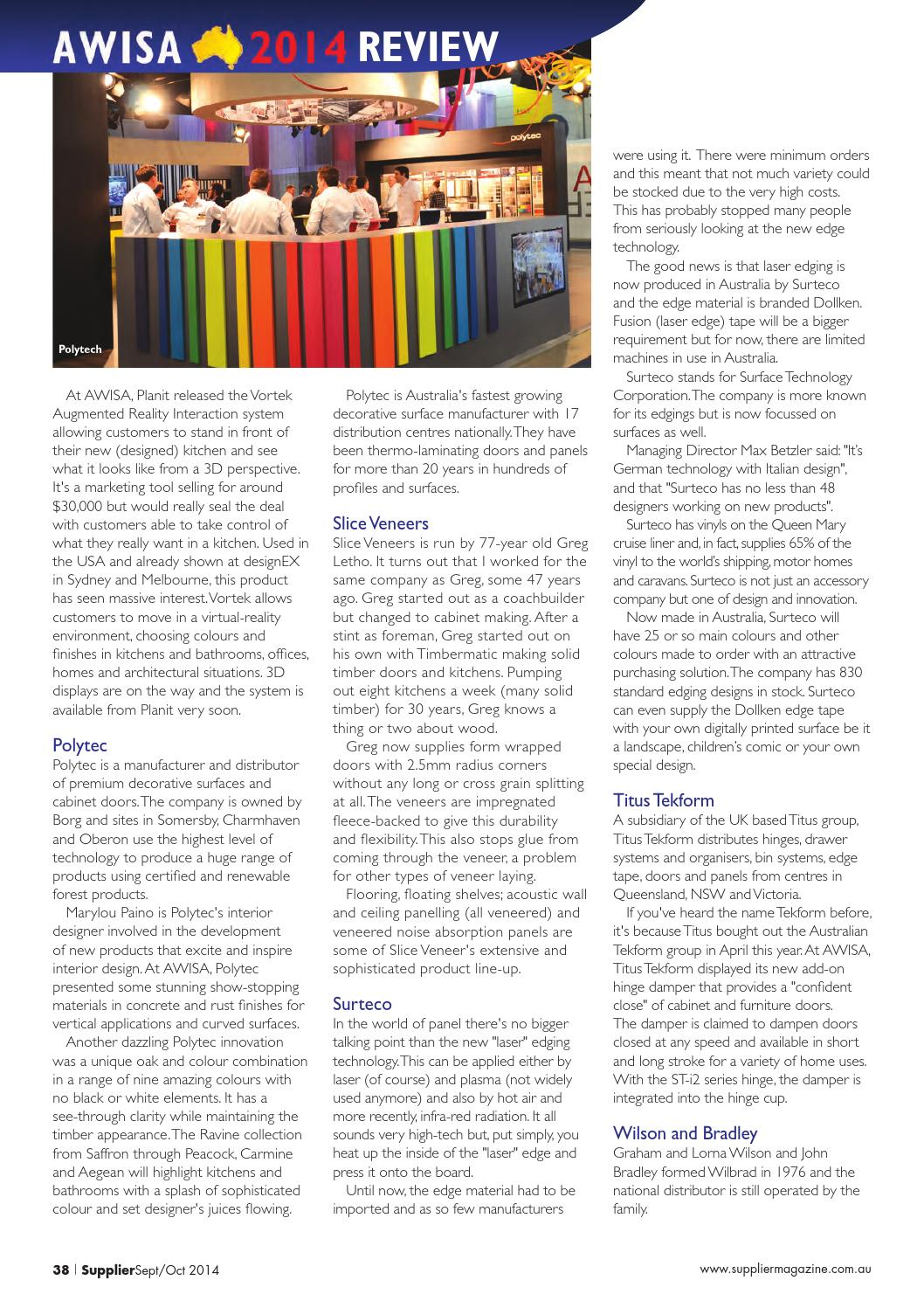 Supplier Sept-Oct 2014 by Elite Publishing Co Pty Ltd - issuu